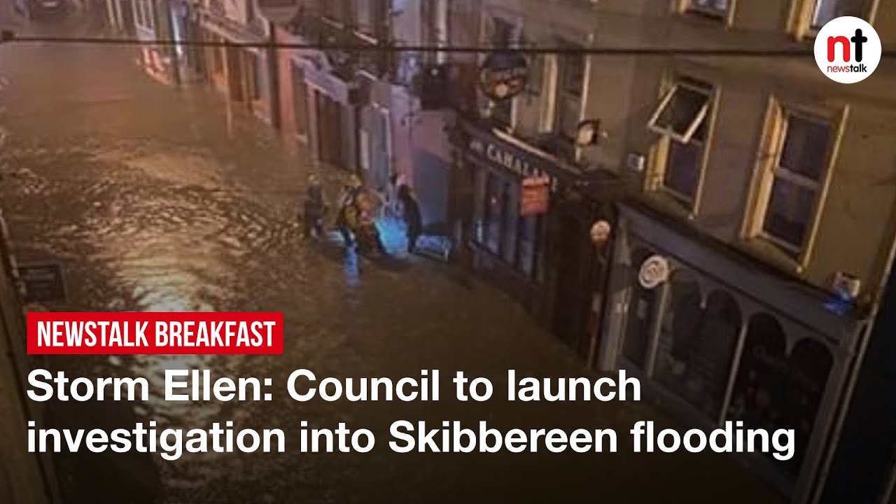 Storm Ellen floods the town of Skibbereen, Cork
