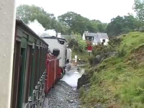 Beyer-Garratt No 87 on the Welsh Highland Railway Part 2 of 5