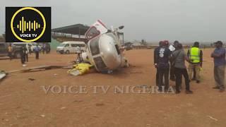 BREAKING: Prof  Yemi Osinbajo Helicopter Crash in Kabba Kogi State