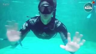 [BANGTAN BOMB] BTS (방탄소년단) Jin's 'Skin diving' Training @ 정글의법칙