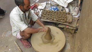 How to Make Clay Lamp on Potter | Amazing India Creation