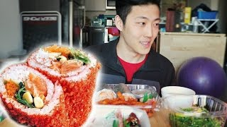 Sushi Burrito Mukbang | Dongdigity