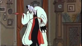 """""""Cruella De Vil"""" from 101 Dalmations - SPANISH version!"""