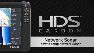Setting Up Live Network Sonar on Lowrance HDS Displays