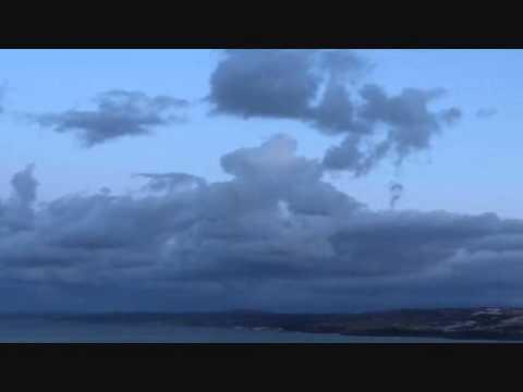 Algeria, Tipaza, Chenoua bay and beach at sunset