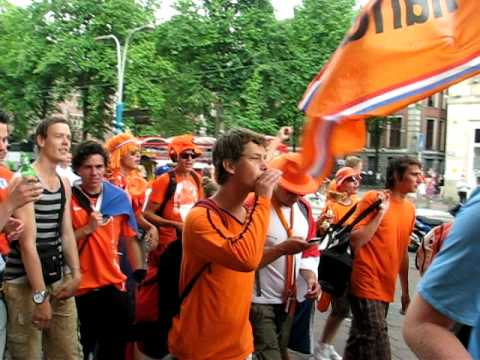 Amsterdam the day of the South Africa 2010 World Cup final 2