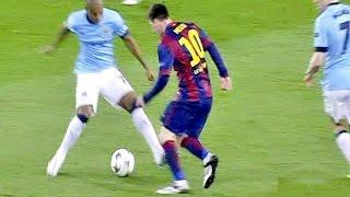 Messi CANETA em Fernandinho do Manchester City