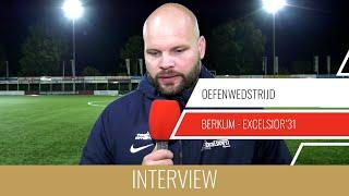 """Screenshot van video Jurjan Wouda: """"Belangrijk dat sommige spelers minuten gingen maken""""   Berkum - Excelsior'31"""