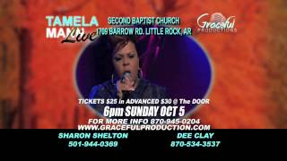 Tamela Mann in Little Rock 30 second commercial