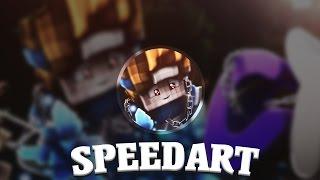 Minecraft Banner Speedart - Cyan | Trenox