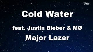 Cold Water feat. Justin Bieber & MØ - Major Lazer  Karaoke 【With Guide Melody】 Instrumental