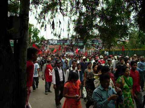 Communist Maoist Protesters, Kathmandu, Nepal April 2010