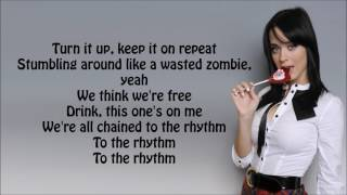 Chained To The Rhythm-Katy Perry cover by Rebecca Black,Alex Goot and KHS( lyrics video)