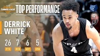 Derrick White Shows Out vs Memphis In The 2018 NBA Summer League