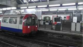 Both District & Piccadilly Lines Departing Hammersmith @ the Same time