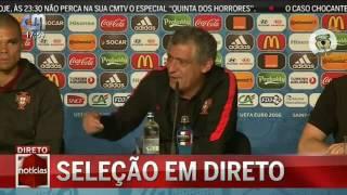 Fernando Santos press conference before the final Euro 2016