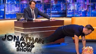 Olly Murs Back Clap Press Up Challenge | The Jonathan Ross Show