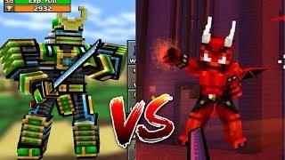 PIXEL GUN 3D - ROBOT SAMURAI VS EVIL DEMON