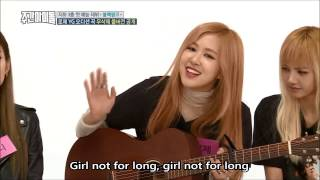 [lyrics] Rose - Not for long on Weekly idol (Full ver.) BLACKPINK