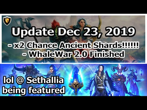 RAID Shadow Legends | Boosted Ancients!!!!! WhaleWars 2.0 Concludes