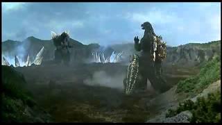 Godzilla vs SpaceGodzilla First Fight width=