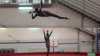 Aerial ring rehearsal