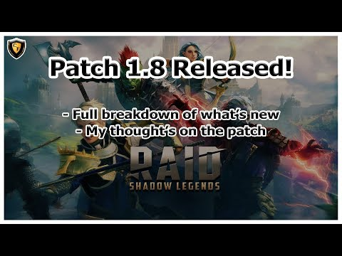 RAID Shadow Legends | Patch 1.8 is here! Review of what's coming!