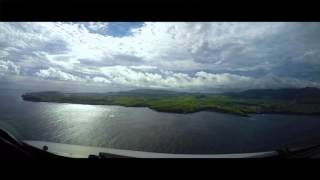Approach and Landing at Terceira Island, Azores