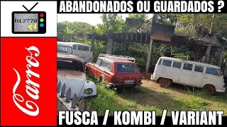 CARROS ANTIGOS NO TERRENO VAZIO EM MIRASSOL (FUSCA / KOMBI / VARIANT) - 21.03.17 - N13770 TV