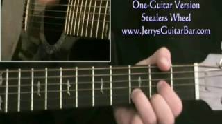 How To Play Stealers Wheel Stuck In The Middle With You (intro only)