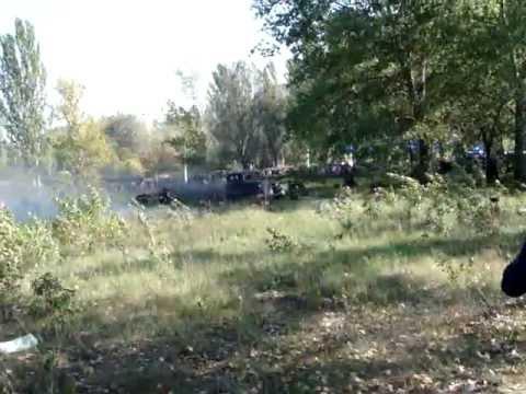 Реконструкция боя Днепродзержинска 1943 года (7.10.2012)