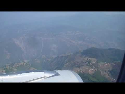 Anflug auf (Approach / Landing at) Tribhuvan International Airport in Kathmandu, Nepal