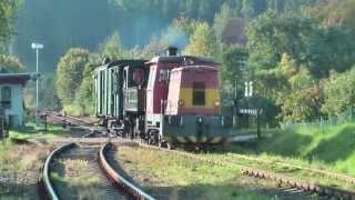 přesun parní lokomotivy