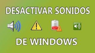 Desactivar sonidos de Windows (silenciar alertas)
