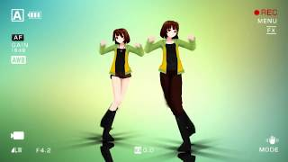 MMD Test models/60 fps [model Drunk Chara] (Umbrella Remix Shuffle Dance)