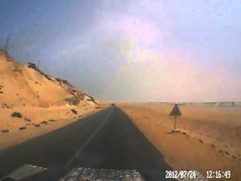Dash cam video of Dakhla (Morocco) to near Mauritania border – part 1