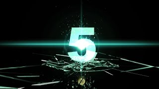 5 sec Countdown Timer ( v 415 ) shatters glass with sound effects HD 4k width=