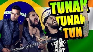 TUNAK TUNAK TUN METAL VERSION | Bloodywood Feat. Bonde do Metaleiro |