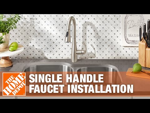 How To Install A Kitchen Faucet The Home Depot