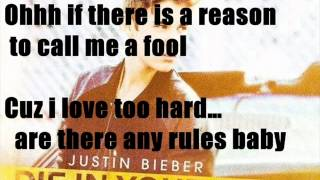 Justin Bieber - Die in your Arms Lyrics