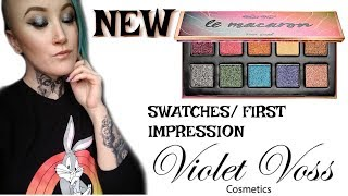 NEW VIOLET VOSS LE MACARON PALETTE - SWATCHES/ REVIEW