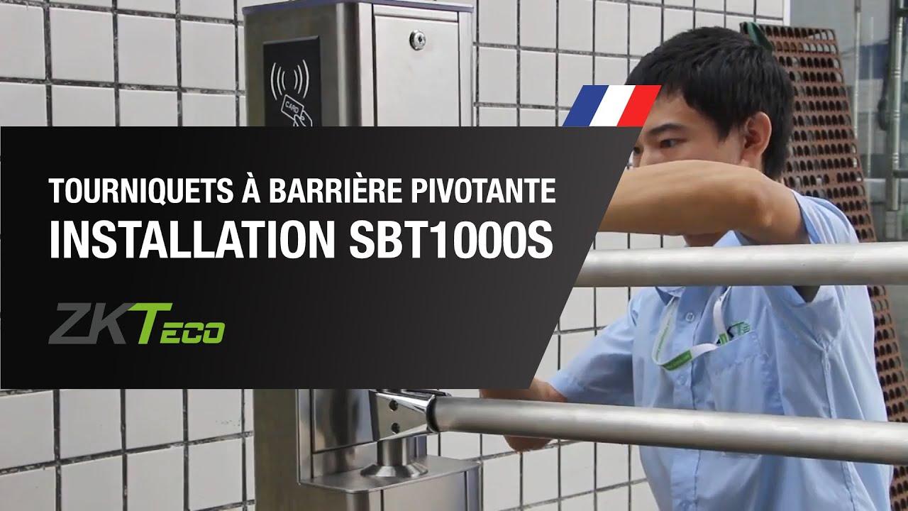 Guide d'Installation du Tourniquets à Barrière Pivotante SBT1000S