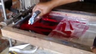 Impresión en bolso de tela notex a dos colores