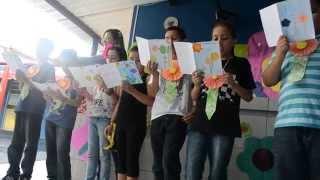 FESTA DA PRIMAVERA C.E.D. 2014 - Apresentação de poema autoral do 4° ano