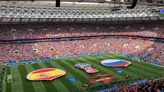Russia - Spain. FIFA WorldCup Russia 2018. Anthem of Russia !!!