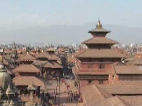 Aerial View of Patan Durbar Square