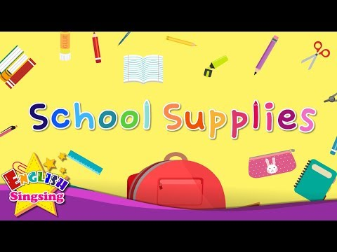 Kids vocabulary - School Supplies