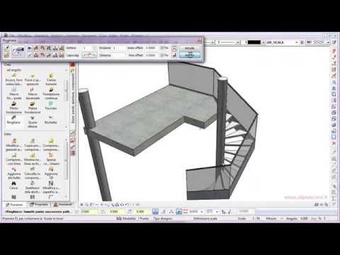programma costruire scala chiocciola