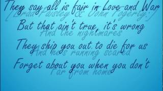 Love and War -Brad Paisley~country song with lyrics