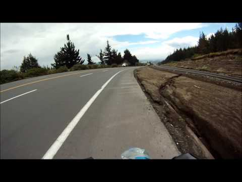 Bicycles down a mountainpass in Ecuador GoPro
